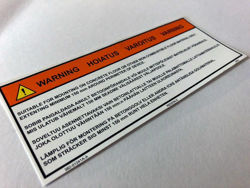 Custom Decals, Labels & Nameplates | AMPCO Manufacturers